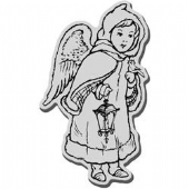 Stampendous - Caped Angel - Cling Rubber Stamp - CRM277